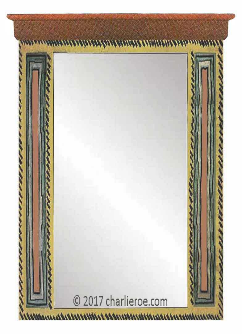 new Bloomsbury Group style painted mirror frames