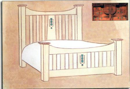 New Charles Rennie Cr Mackintosh Beds Amp Painted Bedroom Wardrobes Furniture