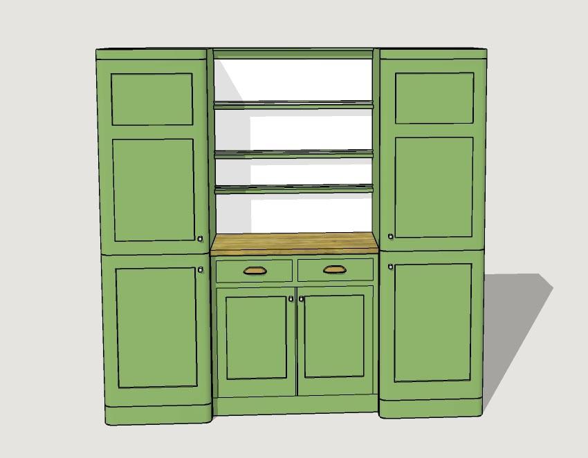 Charles rennie cr mackintosh glasgow school fitted painted for Kitchen furniture glasgow