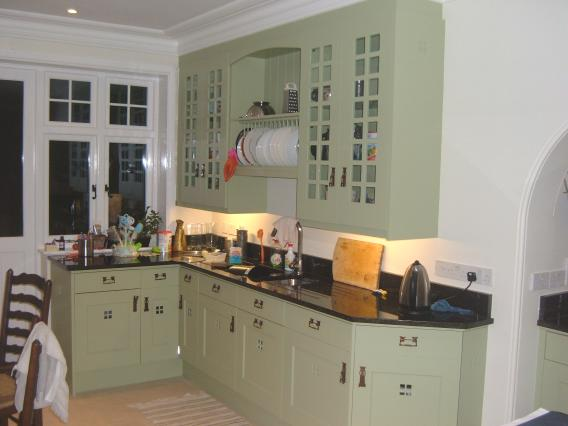 Charles rennie cr mackintosh glasgow school fitted painted for Kitchen ideas glasgow
