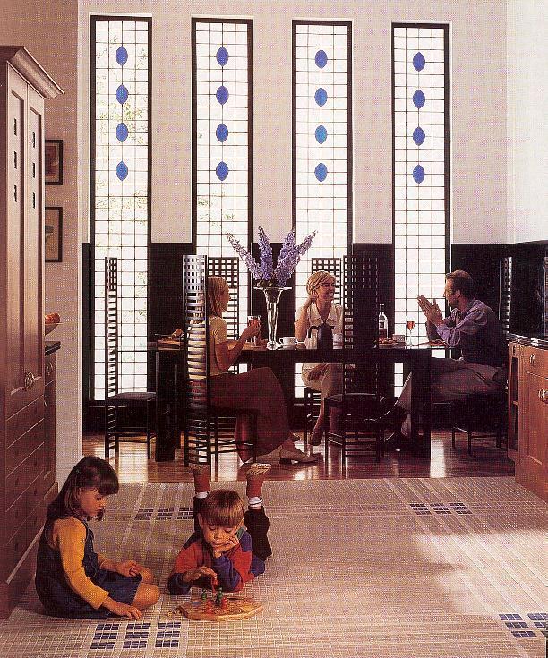 Charles Rennie CR Mackintosh Glasgow School Fitted Wood
