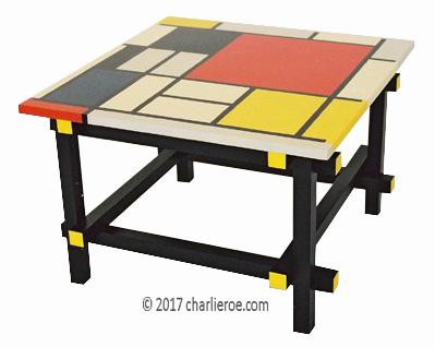 Gerrit Rietveld De Stijl Movement Piet Mondrian Painted
