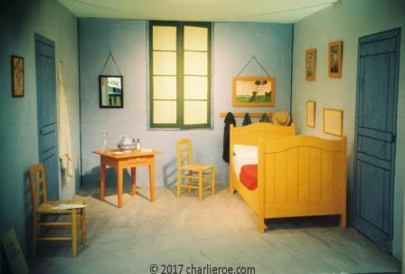 Vincent Van Gogh\'s painted bed & bedroom furniture at Arles