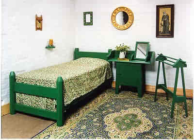 Wm Morris Reformed Gothic Revival Painted Stencilled Bed And Bedroom  Furniture