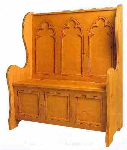 Nice ... Gothic Wooden Pine Furniture Settle Bench