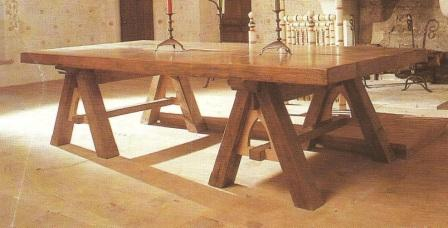 Charming ... Medieval Gothic Trestle Dining Table