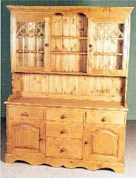 Gothic Wooden Pine Kitchen Dresser Furniture