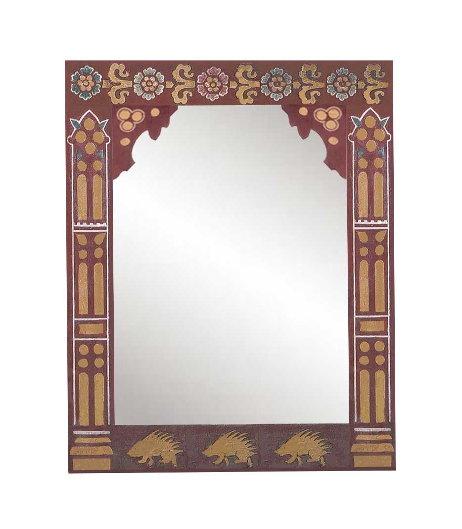 96c9e954d37 new William Burges Gothic Revival style stencilled   painted mirror frame  ...