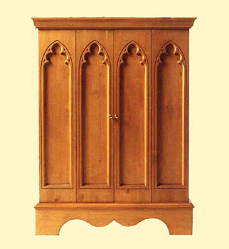 Gothic Pine Furniture Hifi Cabinet, Gothic Pine Furniture Hifi Cabinet