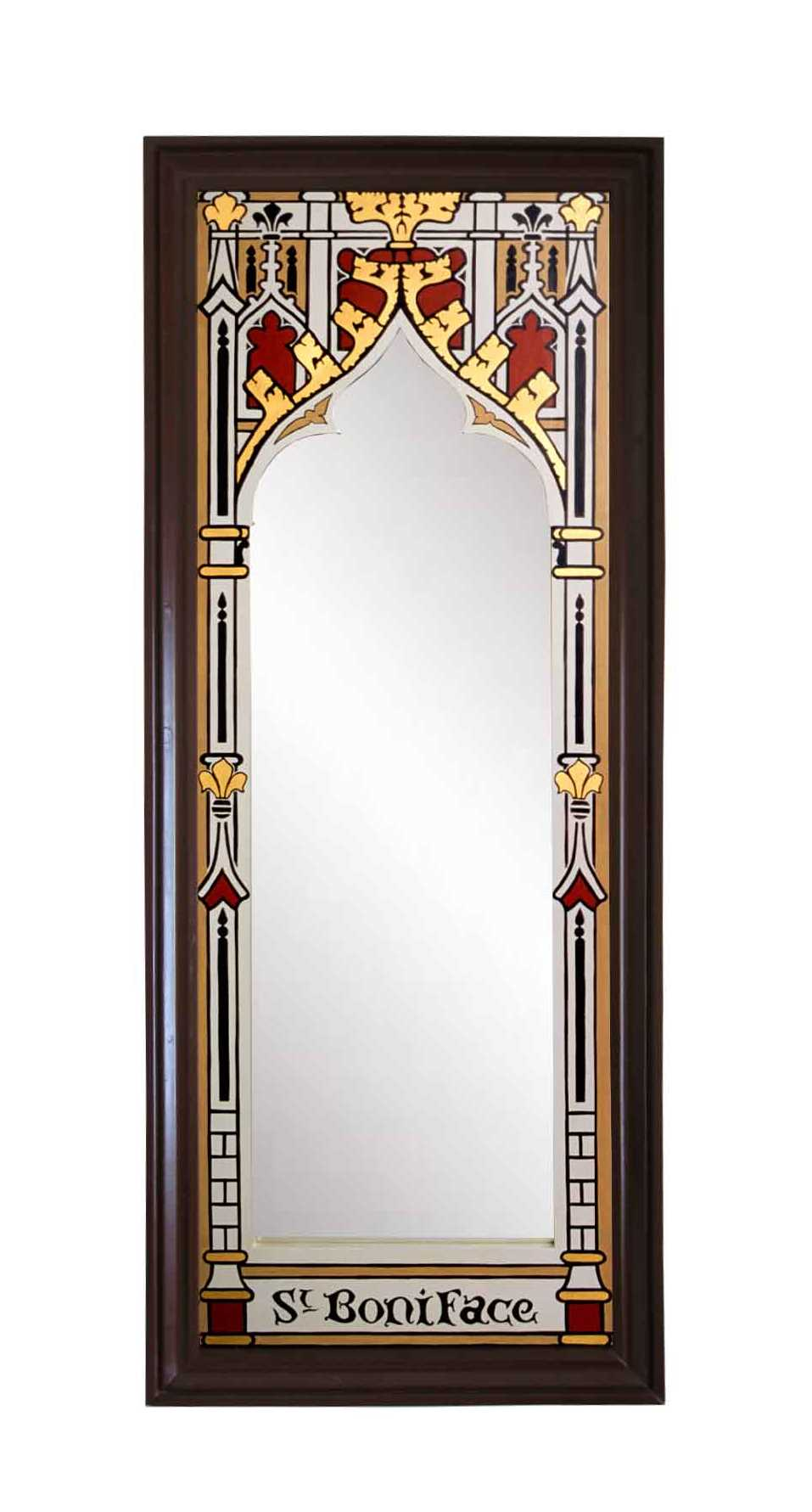 New gothic revival mirrors mirror frames carved painted gilded new wm burges gothic revival style painted gilded gold mirror frame amipublicfo Gallery