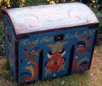 Merveilleux Norwegian Scandinavian Seveteenth Century Style Painted U0027Rosemallingu0027 Folk Chest  Furniture ...
