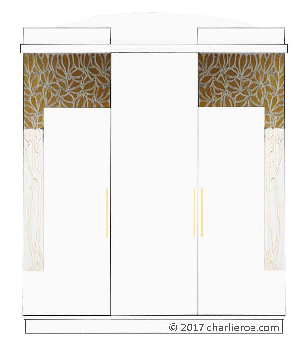 New Vienna Secession Art Nouveau Jugendstil Bedroom 3 Door