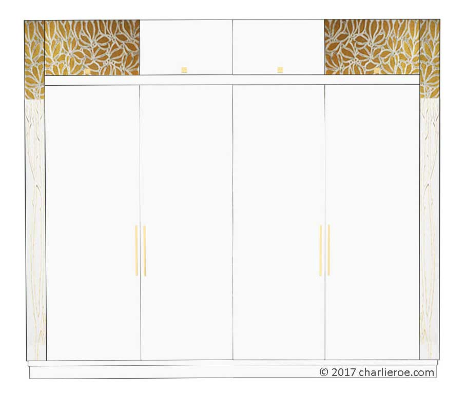 New Vienna Secession Art Nouveau Jugendstil Bedroom 4 Door