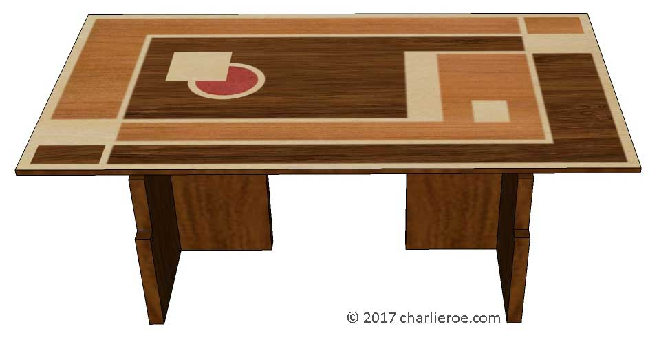 New Art Deco Dining Table With Walter Dorwin Teague