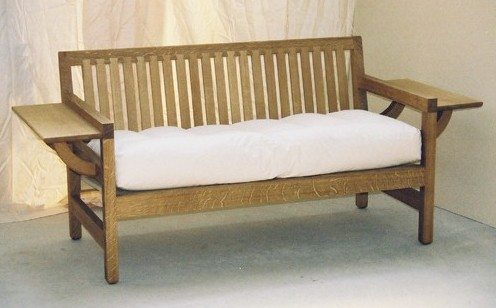New Reproduction Cfa Voysey Arts Crafts Movement Oak Chesterfield Sofa