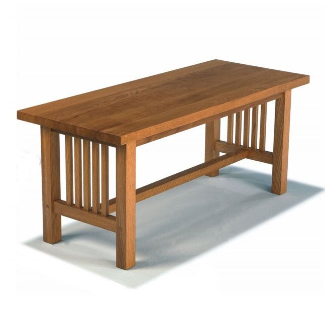 Arts Crafts Movement Frank Lloyd Wright Mission Prairie Style Oak Coffee Table