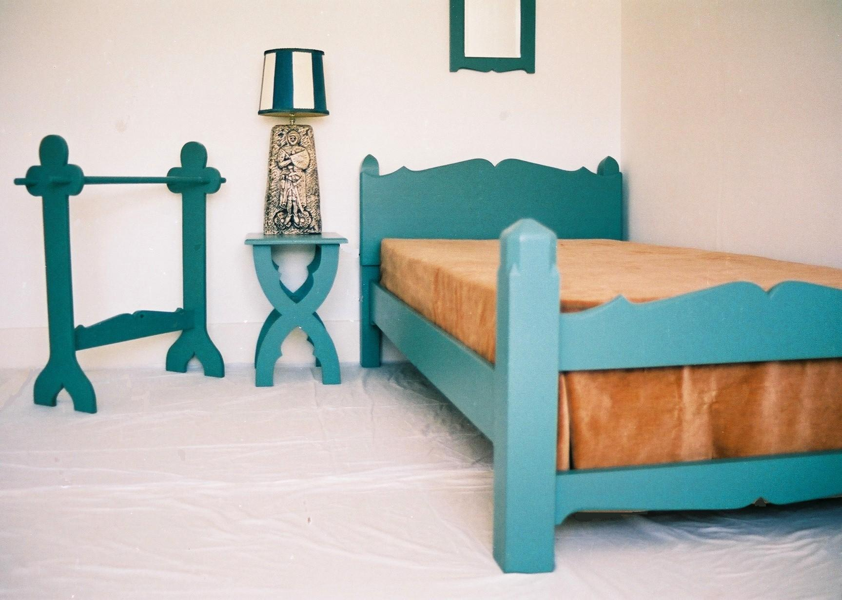 The Priory Suite Painted Arts Amp Crafts Gothic Bed And
