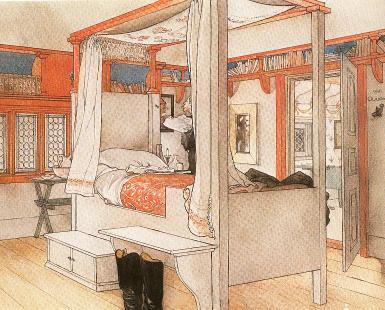 New Reproduction Swedish Artist Carl Larsson Painted Furniture Reproductions Of Bed Table