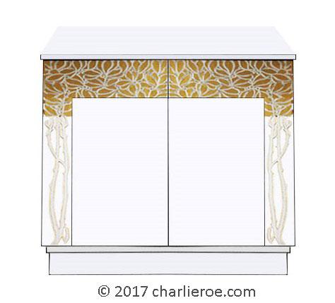 New Vienna Secession Art Nouveau Jugendstil Painted Cabinets